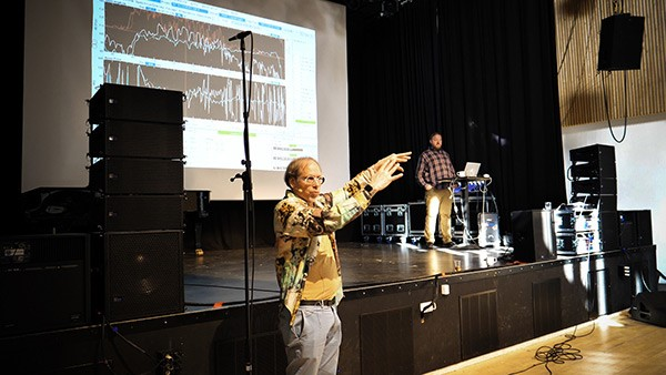 The sessions were held at Copenhagen's Rhythmic Music Conservatory (RMC) under the auspices of Roskilde Festival Technical Training, a continuing initiative that provides high-level technical education in conjunction with the festival and throughout the year.
