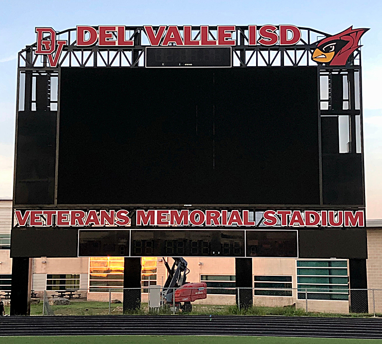 Southwest Building Systems implemented a powerful scoreboard PA system featuring Electro-Voice weatherized loudspeakers