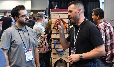 Signum Music Company, showing its custom cables, was among the 500 exhibitors at Summer NAMM.