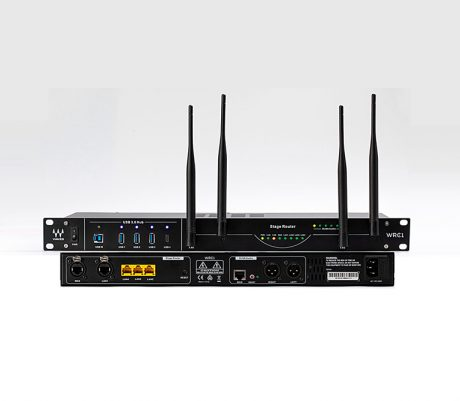 The WRC-1 WiFi Stage Router rack-mountable wireless router is designed specifically for pro audio applications
