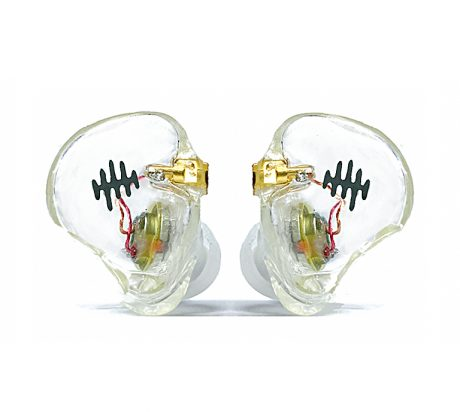 The earpieces are created in a durable photopolymer resin in a variety of finishes