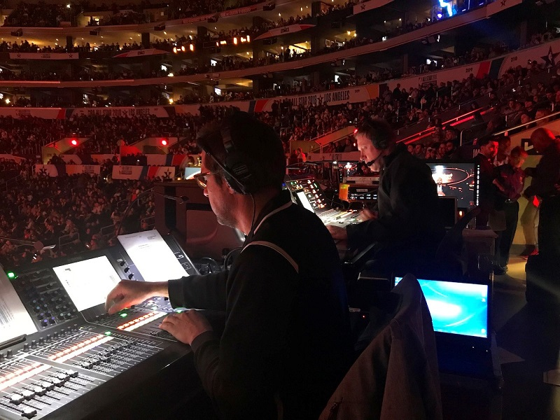 Firehouse Productions providing two Yamaha consoles for the NAB All-Star Game