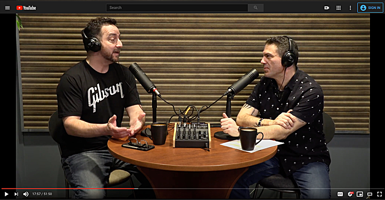 The first episode features speaker designer Todd Michael (right) chatting with host Dave Lawrence
